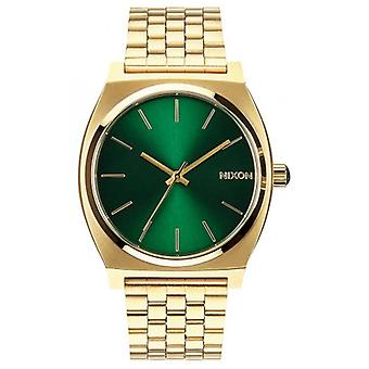 Nixon The Time Teller Watch - Gold/Green Sunray