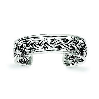 Argent sterling massif Antique finition antique anneau d'orteil - 1,1 grammes