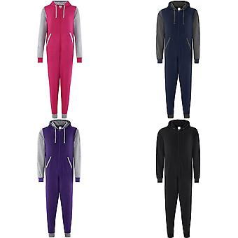 Comfy Co Adults Unisex Two Tone Contrast All-In-One Onesie