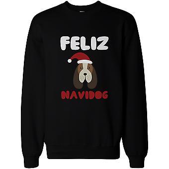 Feliz Navidog Beagle Christmas Black Sweatshirt