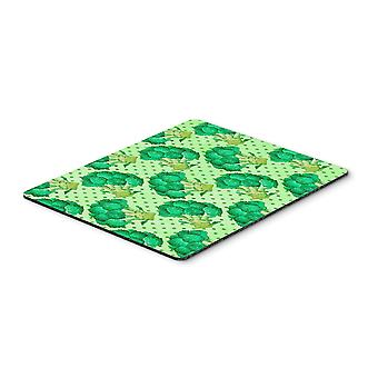 Carolines Treasures  BB7570MP Watercolor Broccoli Mouse Pad, Hot Pad or Trivet
