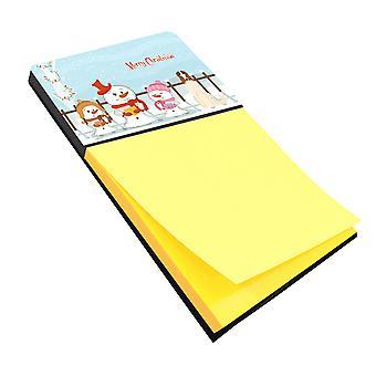 Carolines Treasures  BB2354SN Merry Christmas Carolers Borzoi Sticky Note Holder