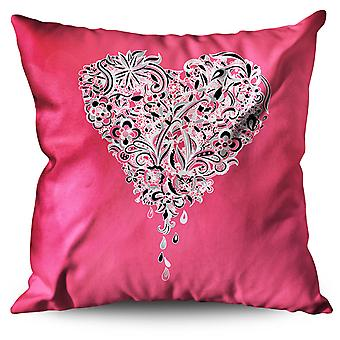 Love Heart Linen Cushion Love Heart | Wellcoda