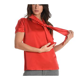 Jucca ladies J2622024L1493 red silk blouse