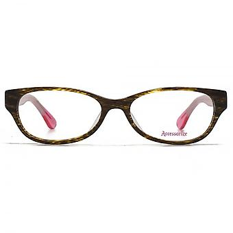 Accessorize Oval Glasses In Brown