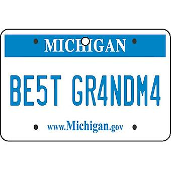 Michigan - Best Grandma License Plate Car Air Freshener