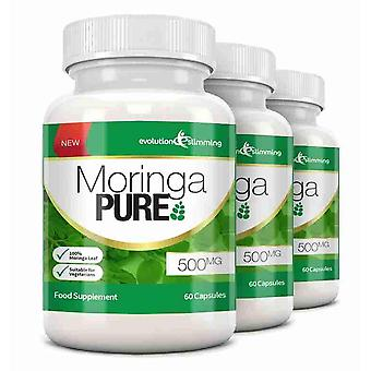 Moringa Pure Capsules 500mg - 180 Capsules - Antioxidant - Evolution Slimming