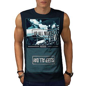 Part livet män NavySleeveless T-shirt | Wellcoda
