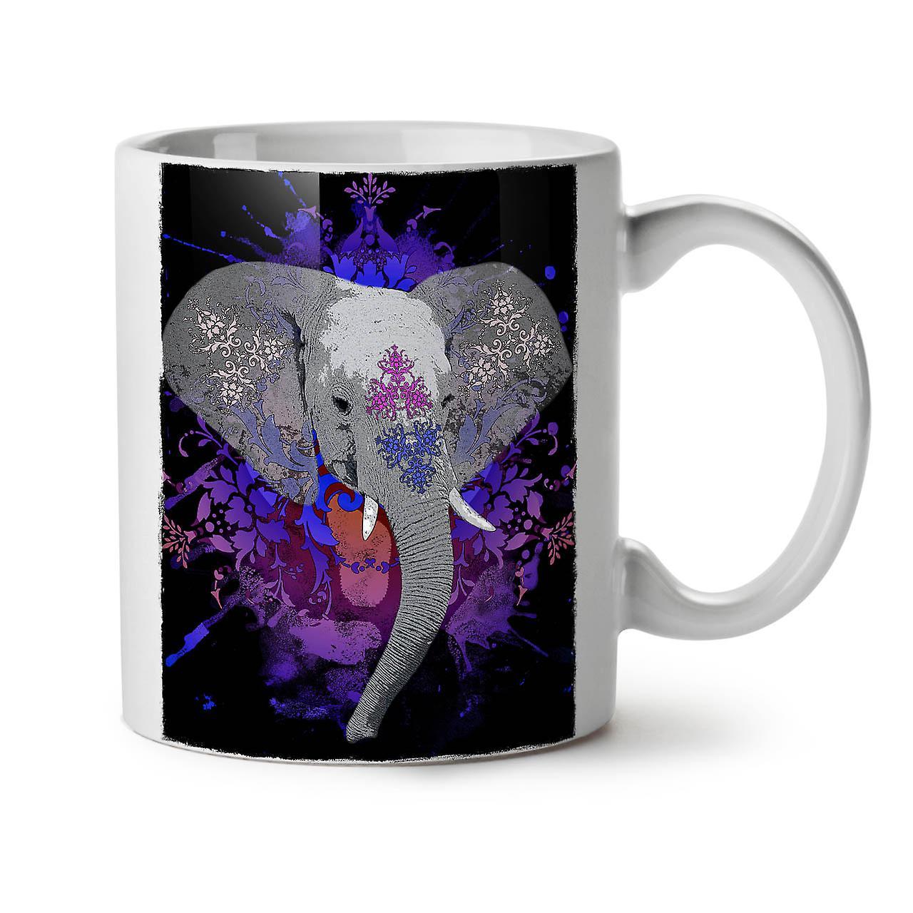 Nouveau Éléphant Thé 11 Blanc Café Indien OzWellcoda Tasse Céramique dxCthQsr