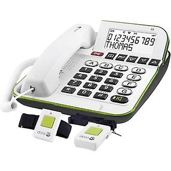 Corded Big Button doro Secure 350 incl. emergency call transmitter, Hands-free