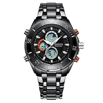 Barkers of Kensington Premier Sport Black Mens Steel Sports Watch with Rotating Dial