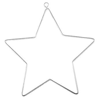 2 Hanging Metal Wire Stars for Decoration - 11.5cm | Metal Wire & Craft Hoops