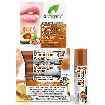 Dr. Organic Moroccan Argan Oil Lip Balm infused with Avocado and Almond