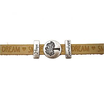 Women - bracelet - tree of life - WISHES - Brown - sand - magnetic lock - hope - survivor
