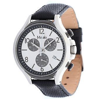 Misaki ladies watch wristwatch QCRWBETA-L leather strap black