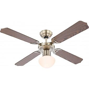 Globo Ceiling Fan Champion antique brass 106.6 cm / 42