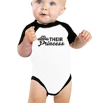 Hun prinses Baby meisje honkbal Romper schattig Raglan voor Baby meisjes