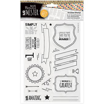 Papermania Mr. Mister A5 Clear Stamps-Text