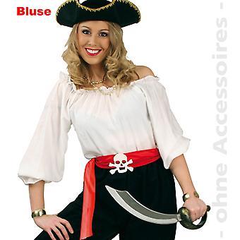 Pirate blouse costume ladies strapless Carmen blouse Womens costume white