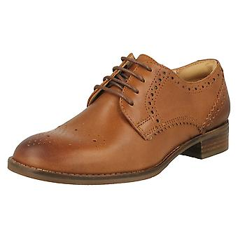 Ladies Clarks Lace Up Brogues Netley Rose
