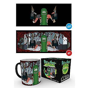 Rick et Morty Pickle Rick chaleur changement Mug