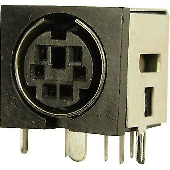 Mini DIN connector Socket, horizontal mount Number of pins: 6 Cliff FC680935 1 pc(s)