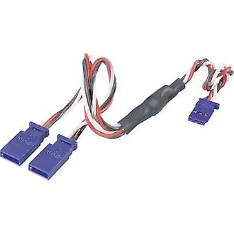 Câble de servo Y [2 x Futaba plug - 1 x Futaba socket] 0,5 mm² Modelcraft