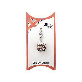 Union Jack tragen Clip auf Bus-Charme