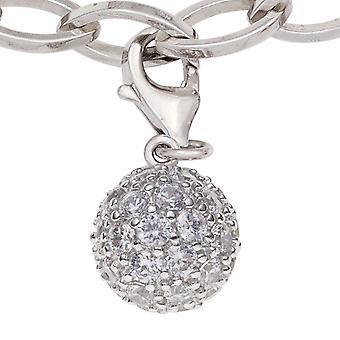 Enkele oorbellen-925 /-s bal charmes Hangers bal aanhangwagen bal