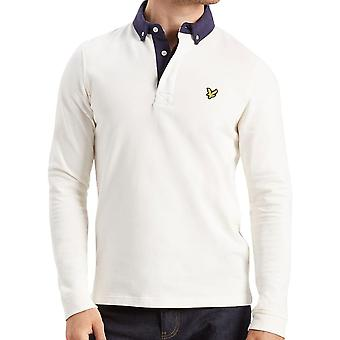 Lyle & Scott Long Sleeve Rugby Top Polo Shirt  Off White
