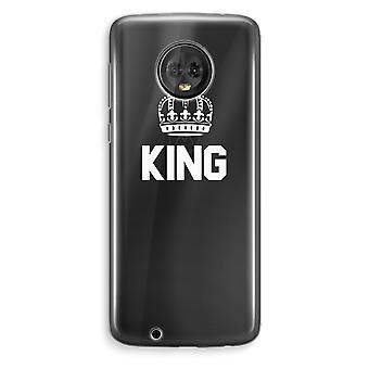Motorola Moto G6 Plus Transparent Case (Soft) - King black