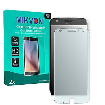 Lenovo Moto Z Play Screen Protector - Mikvon Clear (Retail Package with accessories) (intentionally smaller than the display due to its curved surface)