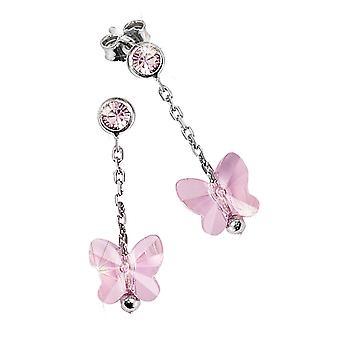 Scout Kinder Ohrringe Silber Schmetterling rosa Mädchen 262163100