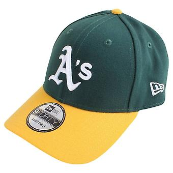 Ny æra 9FORTY MLB Oakland Athletics Cap - mørk grøn/gul