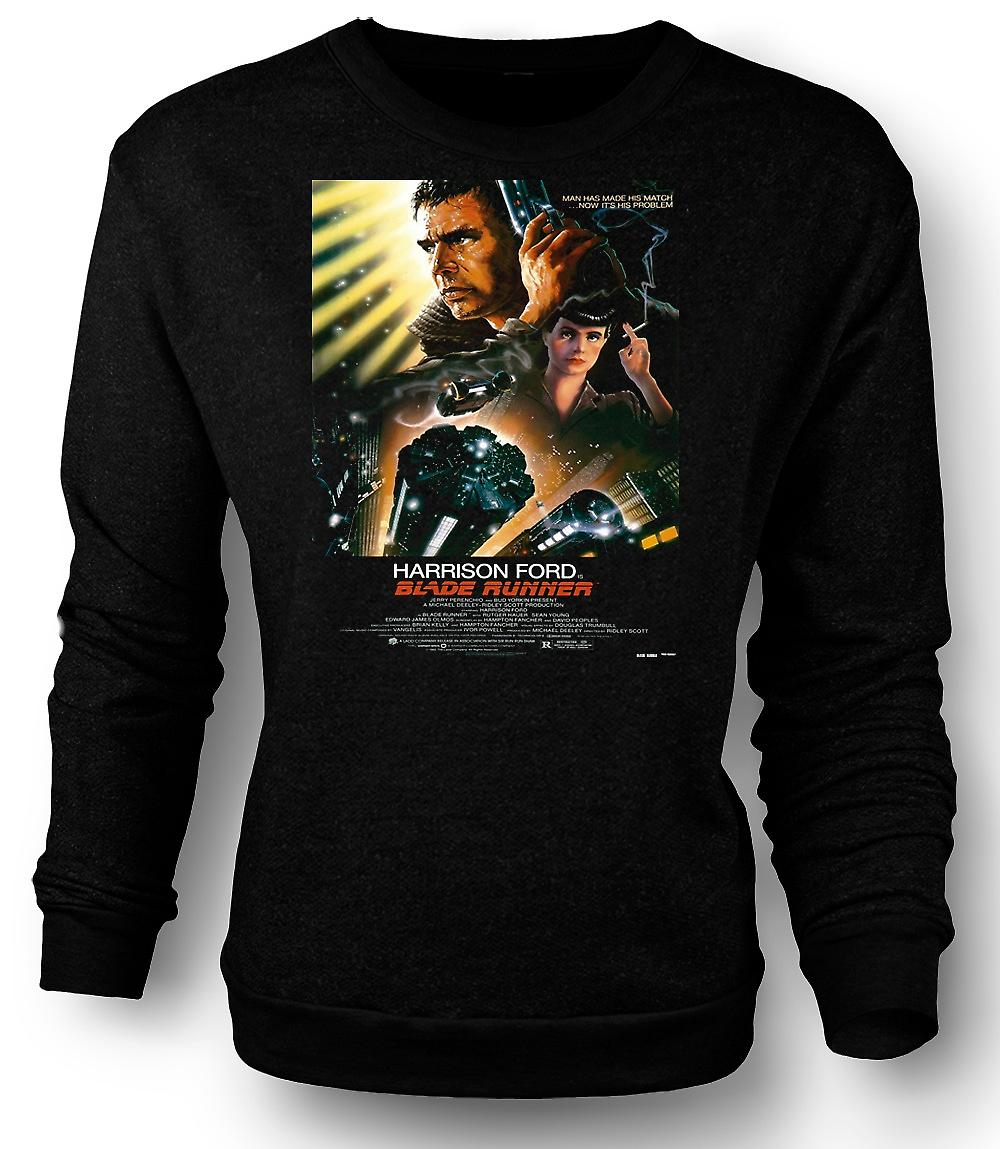 Mens Sweatshirt Blade Runner - Sci Fi - Movie - Poster