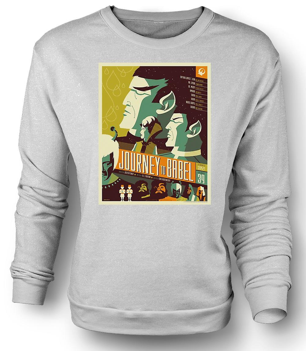 Mens Sweatshirt Journey To Babel - Classic Star Trek