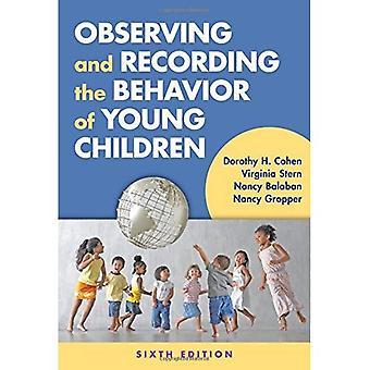 Observation och inspelning beteendet hos unga barn