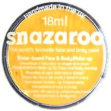 Snazaroo Face And Body Paint - Bright Yellow - Water Based 18ml
