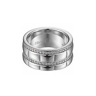 ESPRIT women's ring silver pure Houston cubic zirconia ESRG91524A1