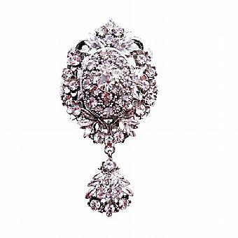 Sparkling simuliert Diamant mit KubikZircon Schlenker Brosche