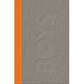 CSB Study Bible for Boys Charcoal/Orange, Wood Design� Leathertouch