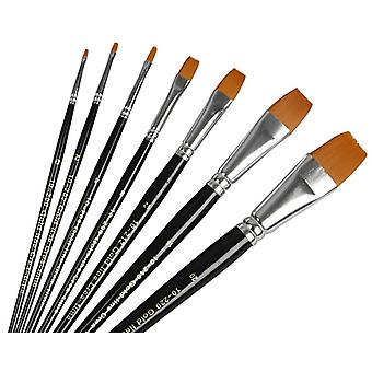 7 Flat Head Paint Brushes for Crafts | Kids Paint Brushes