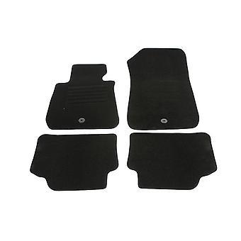 Left Hand Drive volledig afgestemd auto Vloermatten Set - Bmw 3-serie 2005-2011 zwart