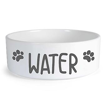Water Small Ceramic Dog Bowl