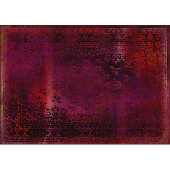 Rugs -Mineheart - Kashan Remix Landscape Rug in Red