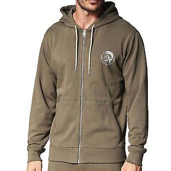 Diesel UMLTBrandon Z Hooded Sweatshirt Khaki