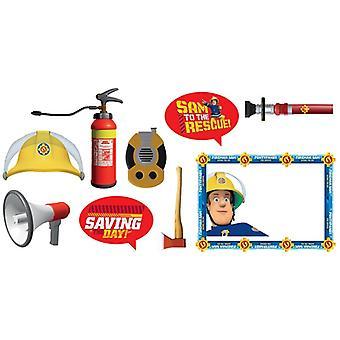 Feuerwehrmann Sam Foto Requisiten  Fireman Sam Samparty Kindergeburtstag