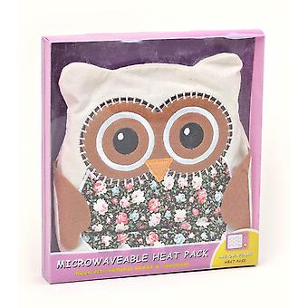 Floral Brown Owl Microwavable Lavender Heat Pack