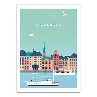 Art-Poster - Stockholm - Katinka Reinke 50 x 70 cm