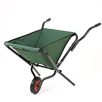 Lightweight Garden Space Saving Polyester Folding Wheelbarrow - Max Load 50kg